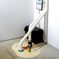 A complete sump pump and battery backup system installed in a home in Spaniards Bay