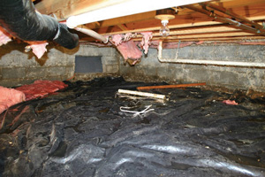 Crawl Space Repair Before in Corner Brook