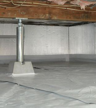 Installed crawl space insulation in North River