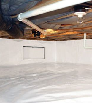 crawl space vapor barrier in Reidville installed by our contractors