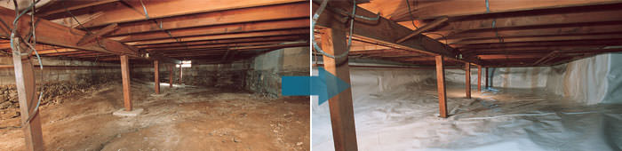 Crawl Space Repair in NL, including Deer Lake, Gander & Corner Brook.