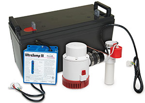 a battery backup sump pump system in St Shotts