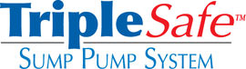 Sump pump system logo for our TripleSafe™, available in areas like Chapel Cove